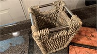 Small basket with wall decor