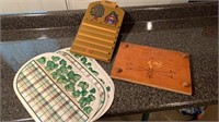 Placemats, wood board, wood calendar(no numbers)