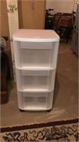 Plastic 3 drawer storage