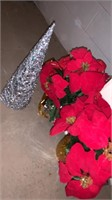 Box of wreaths and Christmas decor