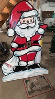 Large Santa decoration and rug