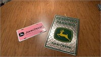 John Deere metal Signs and license plate