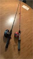 2 fishing poles