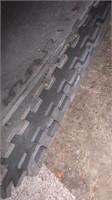 Rubber floor pads