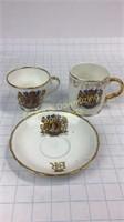 Elizabeth II Matched Cups Adderley