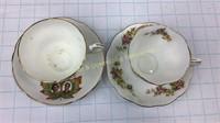 Elizabeth II Canada Visit Teacups