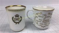 EIIR Coronation & Silver Jubilee Royal Doulton
