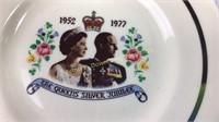 EIIR w/Prince Phillip Portrait Dishes 1977