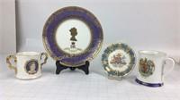 EIIR Golden Jubilee Mixed Plates & Cups