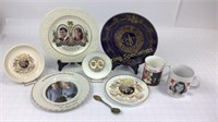Mixed Royal Wedding Plates Cups Spoon