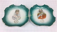 Edward VII & Alexandra 1902 Portrait Plates