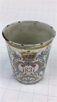Enamel on Tin Beaker Victoria Jubilee 1897