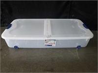 Sterilite 66qt Stackable Rolling Underbed Box