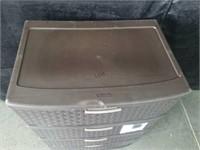 Sterilite 4 Drawer Basket Weave Storage