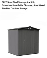 EZEE Steel Shed Storage 6x5ft