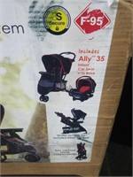 Baby Trend EZ Ride Mars Red Ally 35 Travel System