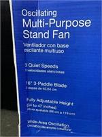 Lasko Black Oscillating Stand Fan