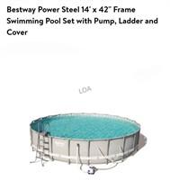 14ft Bestway Power Steel Pool 42in Deep