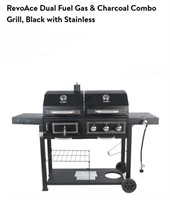 RevoAce Charcoal/Gas Grill Combo