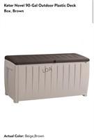Keter 90 Gallon Outdoor Plastic Deck Box