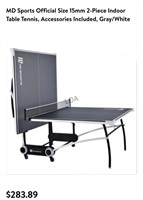 MD Sports Official Size 2pc Indoor Table Tennis