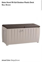 Keter 90 Gallon Outdoor Plastic Deck Box