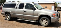 2002 GMC Sierra 1500 Pickup - This item will be sold at live auction. More info and pics can be found in the catalog.  If unable to attend, you can place a MAX ABSENTEE BID simply by registering to bid, then go to catalog to bid.  Bidding opens 7/4/20, all Max bids must be placed by 6 am 7/18/20.  If you are the winning bidder, you will be notified immediately after the item is sold to make payment and pick up arrangements.
