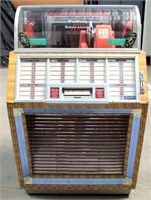 """Seeburg """"B"""" Juke Box - This item will be sold at live auction. More info and pics can be found in the catalog.  If unable to attend, you can place a MAX ABSENTEE BID simply by registering to bid, then go to catalog to bid.  Bidding opens 7/4/20, all Max bids must be placed by 6 am 7/18/20.  If you are the winning bidder, you will be notified immediately after the item is sold to make payment and pick up arrangements."""
