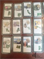 Collection of 35 State Quarter's