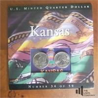 Nine Kansas State Quarter Proof Sets