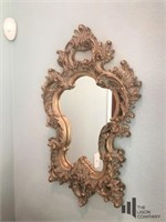 Pair of Ornate Gold Toned Mirrors