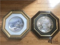 Pair of Framed Thomas Kinkade Collector Plates