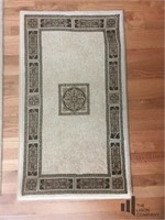 Patterned Area Rug and Matching Caswell Mat