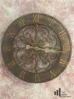 Bronze Toned Roman Numeral Wall Clock