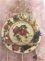 Plate Rack and Decorative Plates