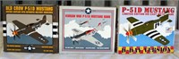 (3) Collector Airplane Banks (P-51D Mustangs)
