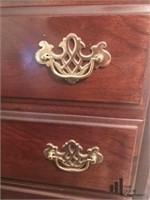 Cherry Colored Chest of Drawers with Batwing Pulls