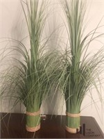 Pair of Grass Like Table Arrangements