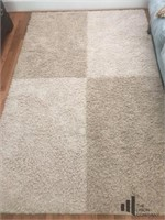 Block Patterned Neutral Area Rug