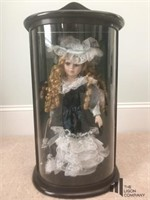 Ashley Belle Doll in Wooden Display Case