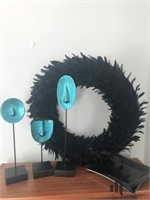 Home Decor in Black And Teal