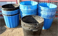 Approx 25 Plastic Mineral Tubs