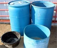 Plastic Barrels, Tubs