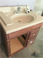 Stand Alone Cabinet Piece with Sink