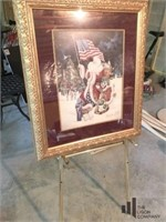 "Signed and Numbered "" God Bless America "" Santa"