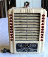Seeburg Wall-O-Matic Wall Juke Box, has key
