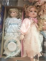 Collection of Fine Porcelain Dolls