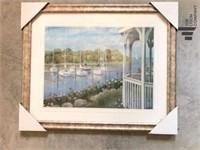 """"""" Gazebo in The Harbor """" by C Saxe"""