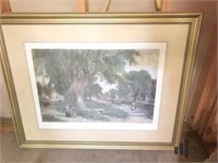 """ The Village Elms "" Framed Print"