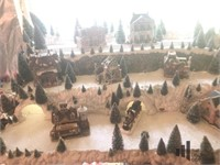 Hand Crafted Christmas Village with Collectables